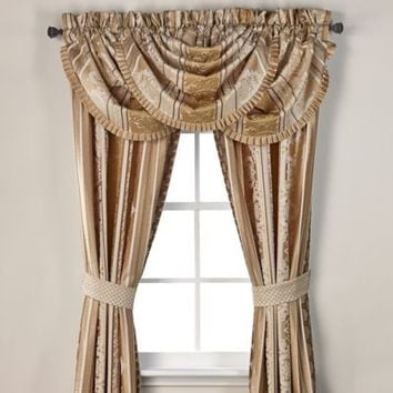 J. Queen New York™ Marcello Waterfall Window Valance in Gold