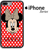 Top Disney Minnie Mouse Polkadot Fit Hard Case For iPhone 6 6s 7 8 Plus X Cover