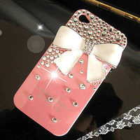 Cute bowknot iPhone case iPhone 5 case, iPhone 4/4s case, custom bling samsung galaxy s3 case galaxy note 2 case  galaxy s4 case
