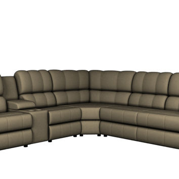 Large Recliner True Sectional Sleeper Sofa with Console