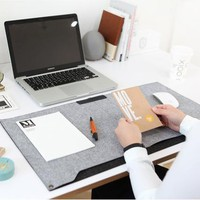 Kawaii Cute Vintage Anime Color Computer Felt Office Mat Weekly Plan Organizer Large Desk Table Storage Memo Mat Learning Pad