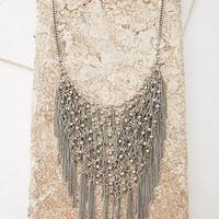 Chain Fringe Statement Necklace