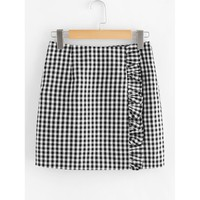 Love Plaid Gingham Skirts - Black & White