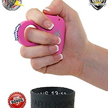 Streetwise Sting Ring 18,000,000 Volts- (PINK & LIGHT WEIGHT)- Concealed Self-Defense Taser for Women- Stun Gun - Comes with Free Inspirational Gift Bracelet