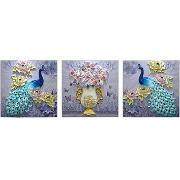 3 Dimensional  Craftsmanship Peacock Paintings For Decor