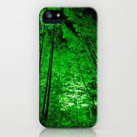 Electric Forest Green iPhone Case by Alice Gosling | Society6