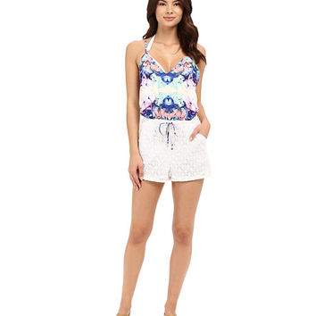 6 Shore Road by Pooja Malay Lace Romper Cover-Up Havana Floral - Zappos.com Free Shipping BOTH Ways
