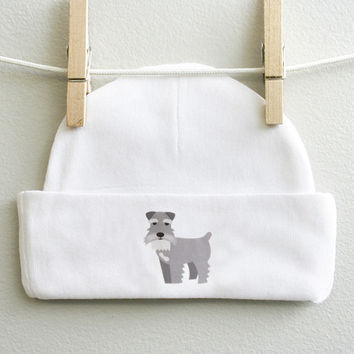 Schnauzer baby cap for baby boy or baby girl