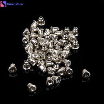 SUSENSTONE 50PCS Fashion Jewelry Accessories Bullet Earplugs