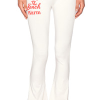 Wildfox Couture Bench Warmer Yoga Pant in Cream