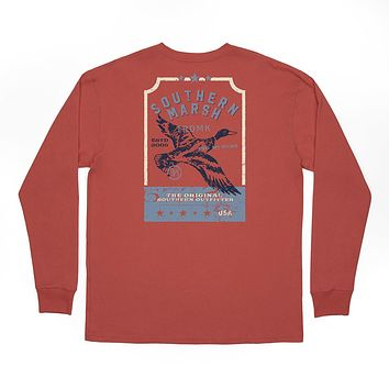 Long Sleeve Vintage Tag Duck Tee by Southern Marsh