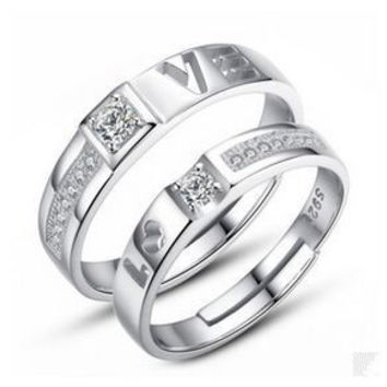 Couple rings 925 silver ring married couple on the ring 2017 Korean fashion jewelry explosion models