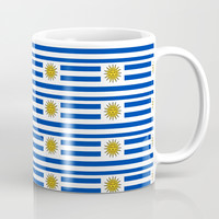 flag of Uruguay-Uruguyan,montevideo,spanish,america,latine,Salto,south america,paysandu,costa,sun Coffee Mug by oldking