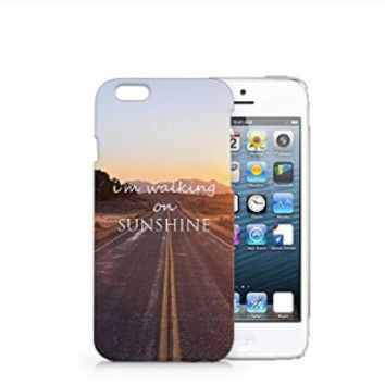 I'm Walking On Sunshine Iphone 6 Case, Meaningful Text Iphone 6 Case Plastic Hard White Case Unique Design-Quindyshop (AM438)