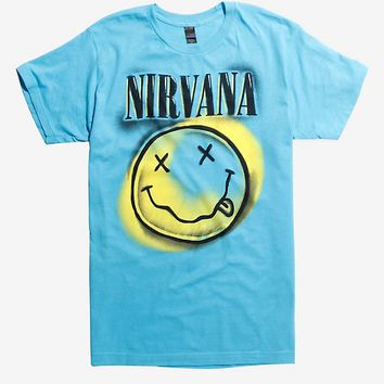 Nirvana Graffiti Smiley Face T-Shirt