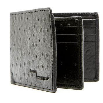 Genuine Leather Bifold Wallet With Center Flap ID & Card Slots