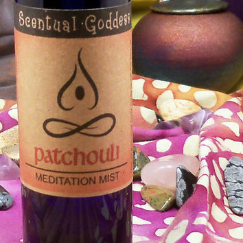 PATCHOULI Meditation Mist - Spray Liquid Incense New Age Spiritual - Create a Zen Space Anytime You Wish with Deep Earthy Retro Patchouly