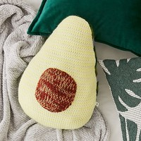 Avocado Crochet Throw Pillow | Urban Outfitters