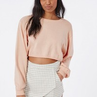 COCOON CROPPED KNITTED JUMPER NUDE