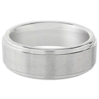 Cobalt Brushed Finish Men's Comfort-Fit Fiero Wedding Band