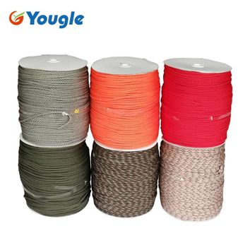 YOUGLE 1000FT 550 Paracord Parachute Cord Lanyard Rope Woven rope Mil Spec Type III 7 Strand Core Tent Accessories