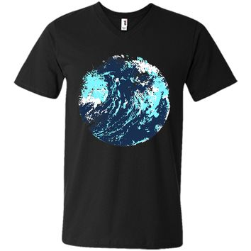 Attractive Painted Abstract Artistic Maverick Wave Ocean 2017 T Shirt
