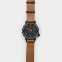 Komono Magnus Watch - Black Cognac