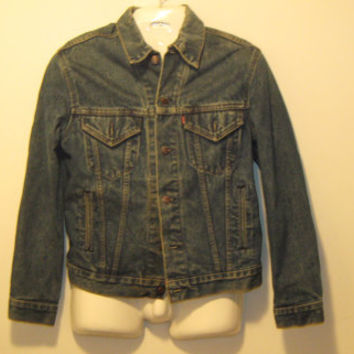 Vintage 1980s Levi's Denim Jacket - Made in USA - Size Medium