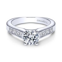 1.75cttw Princess Cut Channel Set Diamond Engagement Ring