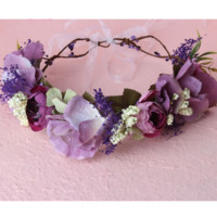 Shades of Fairies - Purple Whimsy Flower Crown