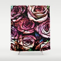 :: Rose Colored :: Shower Curtain by :: GaleStorm Artworks ::
