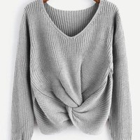 Emory Twist-Sweater