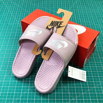 Nike Benassi Duo Ultra Slid Pink Sandals - Best Online Sale