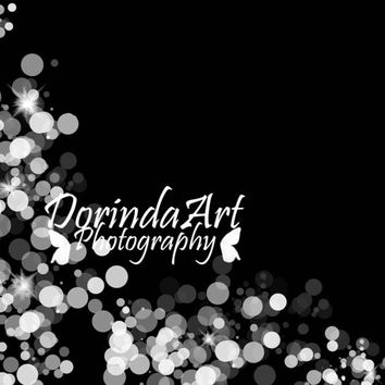 Black background print Custom Text Photo overlay bokeh lights Christmas frame Instant Download Sparkling Photo Personalized card blank