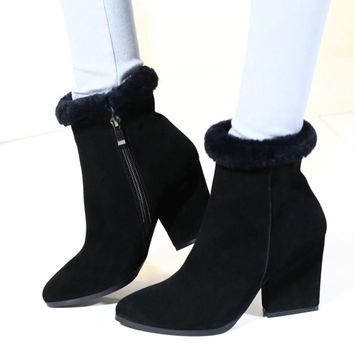 High Heel Boots Pointed Toe Booties