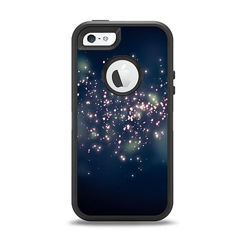 The Dark & Glowing Sparks Apple iPhone 5-5s Otterbox Defender Case Skin Set
