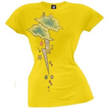 Lightning Bolt Cloud W/ Foil Juniors T-shirt