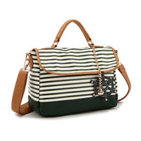 Crossbody Navy Stripes Bag for Women