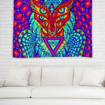 The Owl by Alex Aliume - Wall Tapestry