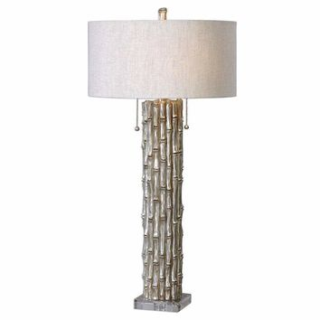 Silver Bamboo Table Lamp By Uttermost