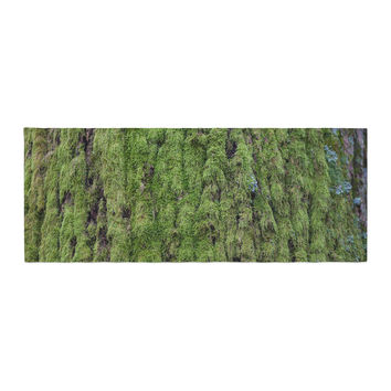 "Susan Sanders ""Emerald Moss"" Green Nature Bed Runner"