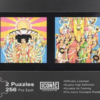 Jimi Hendrix – Axis Bold as Love Jigsaw Puzzles Two Puzzles in Storage Box