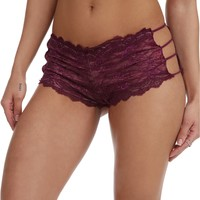 Eggplant Caged Lace Panty