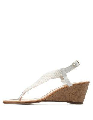 white crochet wedge sandals by from russe