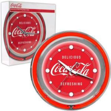 Trademark Global 14 in. Coca Cola Delicious Refreshing Neon Wall Clock-coke-1400-v3 at The Home Depot