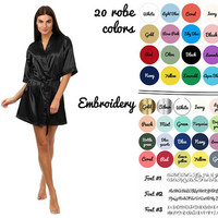 Cheap bridesmaid robes, Satin robes for bridesmaids, Personalized robes, Kimono Satin, Bridemaid robes, Personalized bride robe, Gift set