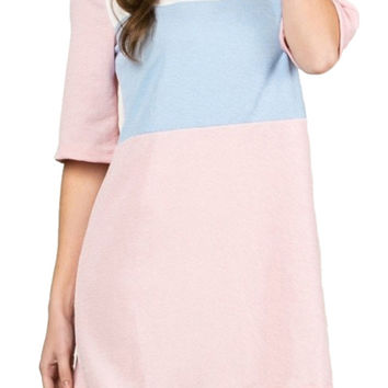 Color Block Textured Dress