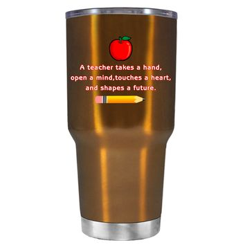 TREK A Teacher Takes a Hand with Apple on Copper 30 oz Tumbler Cup