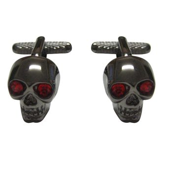 Skull with Red Eyes Cufflinks