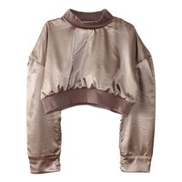 Satin Reversible Crop Sweater
